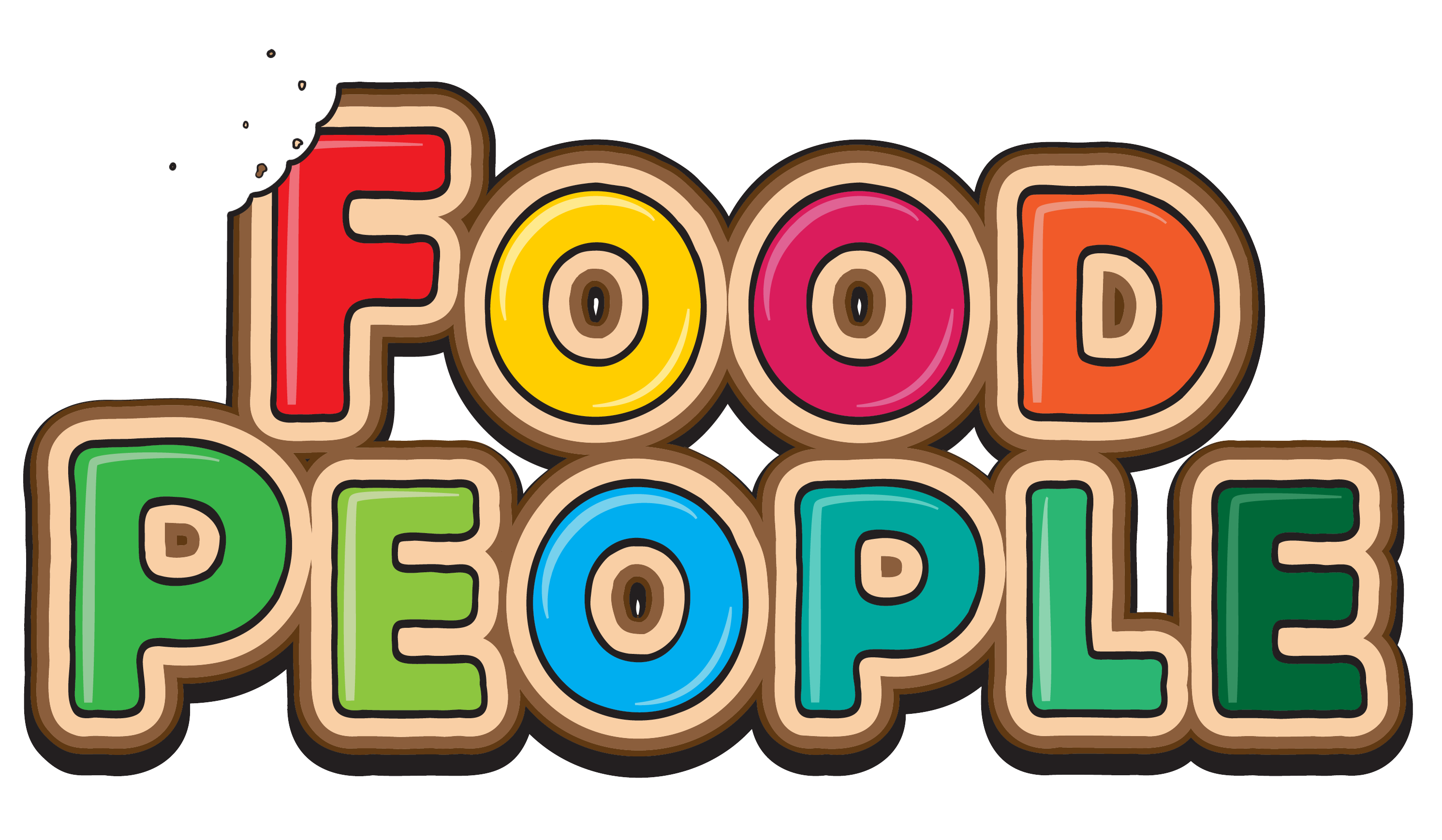 Food People Cartoon Logo