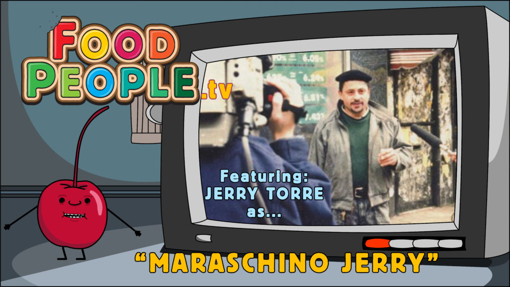 food people cartoon maraschino jerry